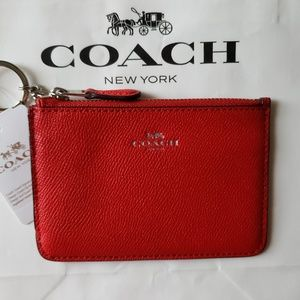 Coach Crossgrain Leather Key Pouch
